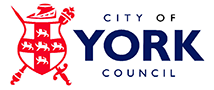 The red shield design with blue text reading 'City of York Council'.